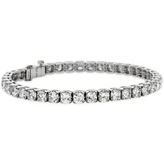 Cushion Diamond Bracelet in Platinum  (12 ct. tw.)