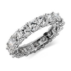Cushion-Cut Diamond Eternity Ring in Platinum (4 ct. tw.)