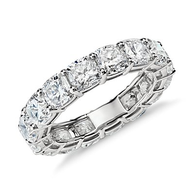 Cushion Cut Diamond Eternity Ring in Platinum (7 ct. tw.)