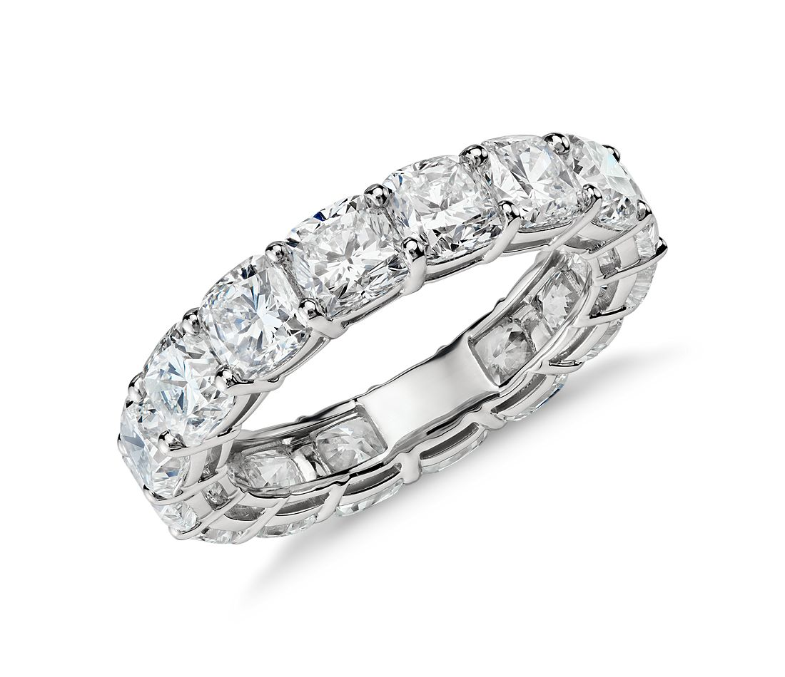 Cushion Cut Diamond Eternity Ring in Platinum (7.00 ct. tw.)