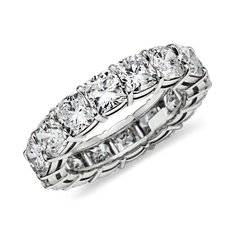 Cushion-Cut Diamond Eternity Ring in Platinum (over 7 ct. tw.)