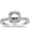 Halo Diamond Engagement Ring in Platinum