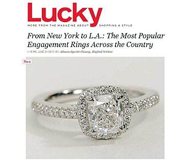 Cushion-Cut Halo Diamond Engagement Ring in Platinum