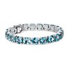Sky Blue Topaz Cushion Bracelet (8mm) in Sterling Silver