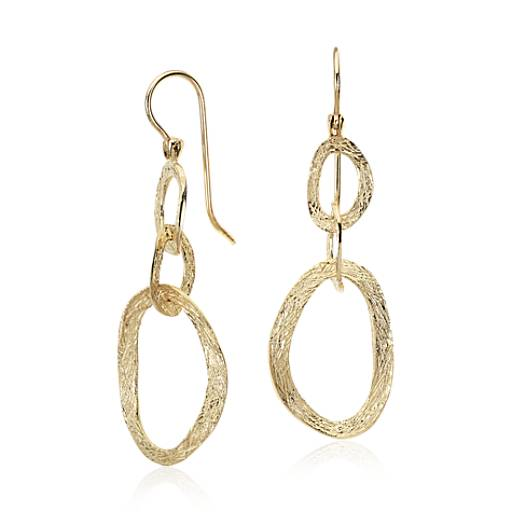 Dangling Earrings in 14k Yellow Gold