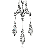 Colgante de diamante de gota decorativa en oro blanco de 14k (1/3 qt. total)
