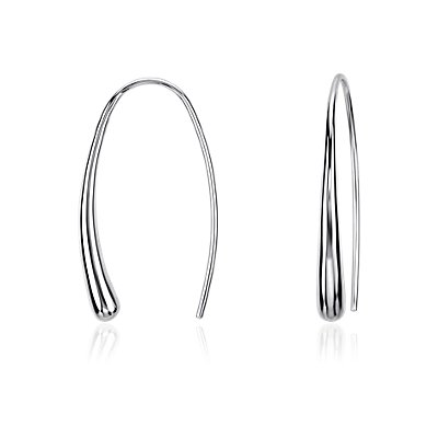 Dew Drop Threader Earrings in Sterling Silver