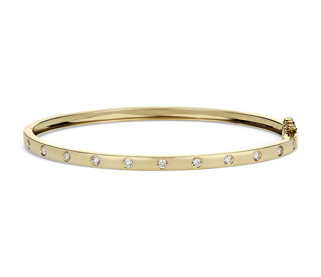 Diamond Bangle in 14k Yellow Gold (1/2ct tw) | Blue Nile