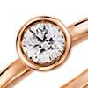 Bezel Set Round Diamond Ring in 14K Rose Gold (1/5 ct. tw.)