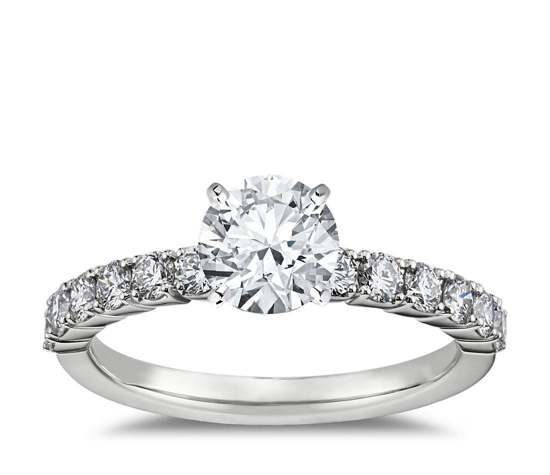 Prima Engagement Ring Setting in 14k White Gold (1/2 ct. tw.)