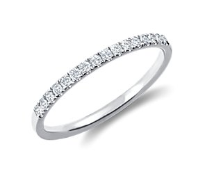 Petite Cathedral Pavé Diamond Ring in 14k White Gold (.15 ct. tw.)