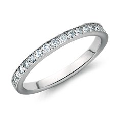 Bague en diamants sertis pavé cathédrale en Or blanc 14 ct