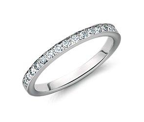 Cathedral Pavé Diamond Ring in 14k White Gold