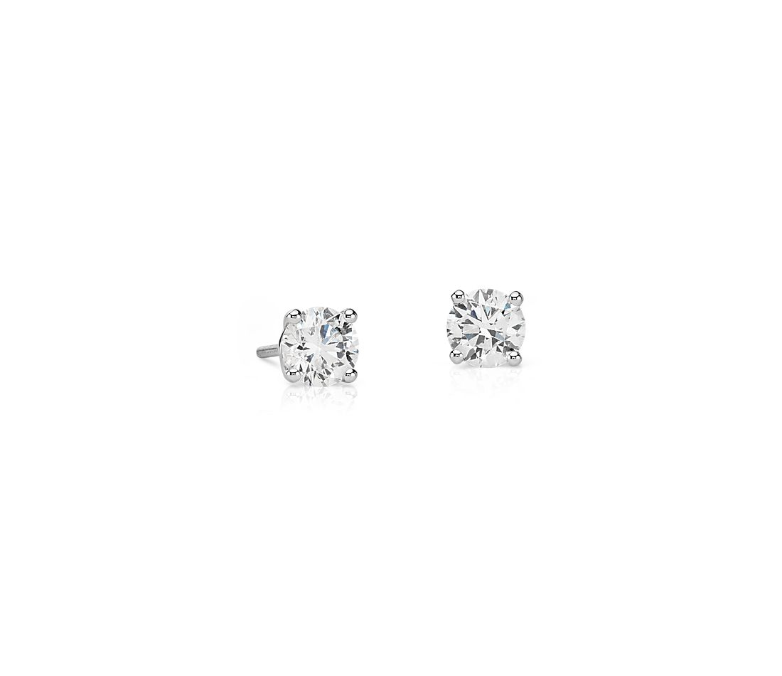 Essential Diamond Stud Earrings in 14k White Gold (1 ct. tw.)