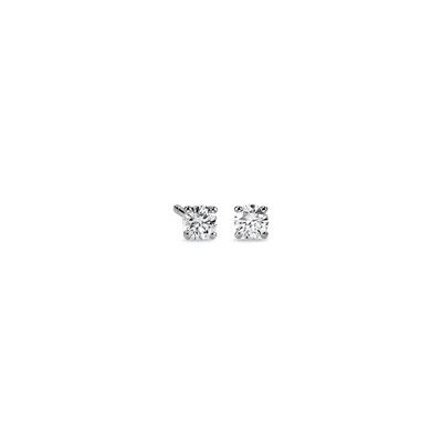 Or blanc 14carats Puces d'oreilles en diamant sertissure à quatre griffes (1/2carat, poids total)