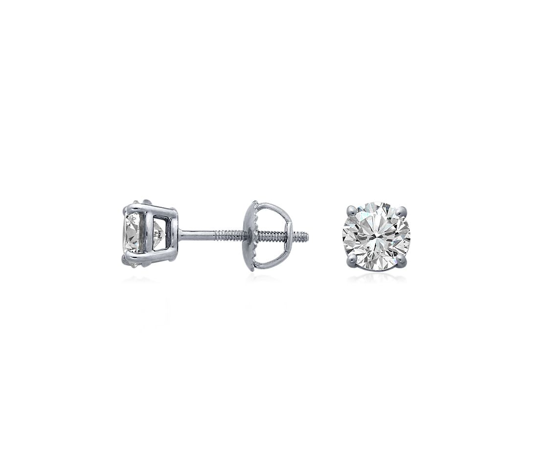 Essential Diamond Stud Earrings in 14k White Gold (1 1/2 ct. tw.)