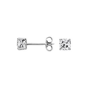 Cushion Diamond Stud Earrings in 14k White Gold (1 ct. tw.)
