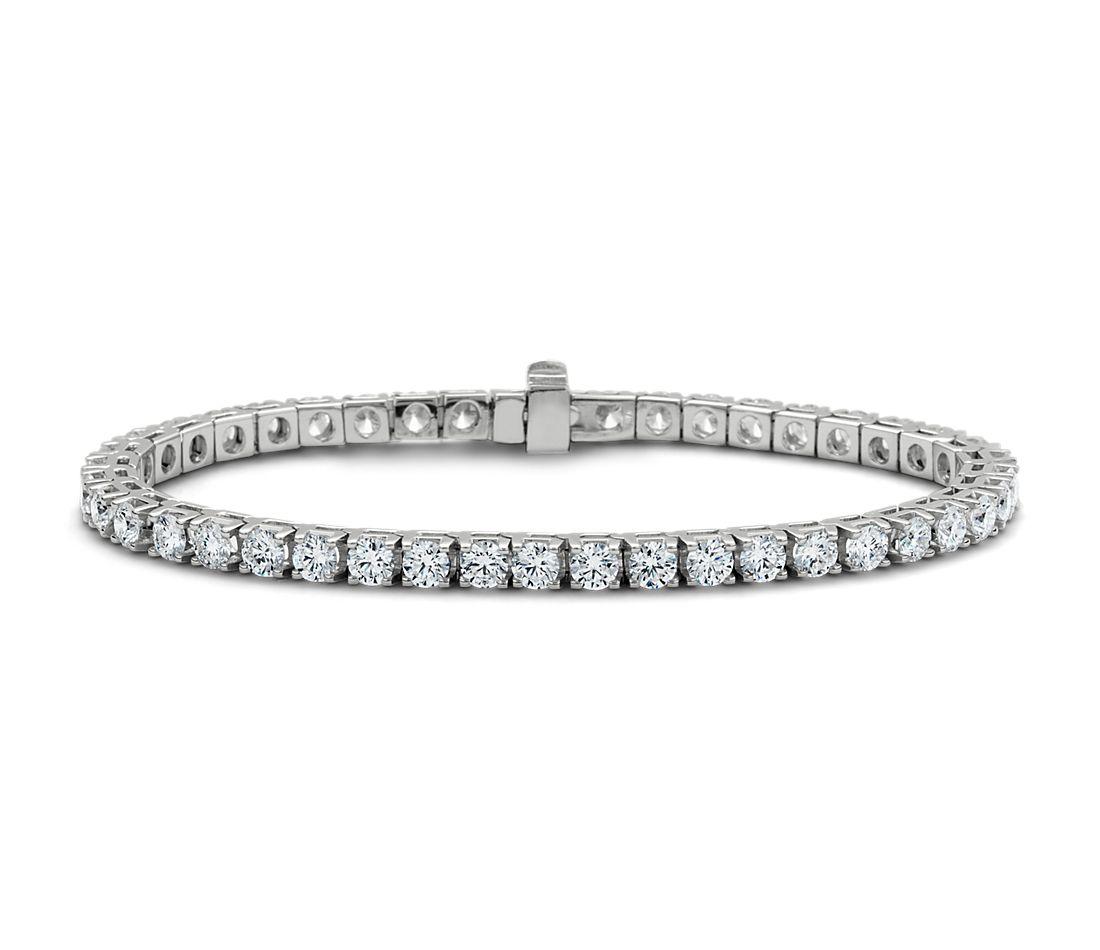 鑽石 18k 白金手鍊( 7 克拉總重量)