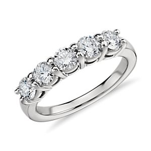 Eternal Five Stone Diamond Ring in Platinum (1 ct. tw.)