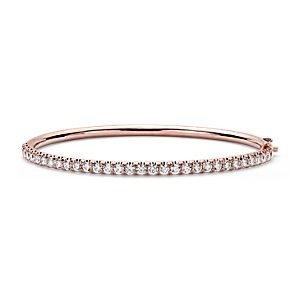 Pavé Diamond Hinged Bangle in 18k Rose Gold (2.53 ct. tw.)
