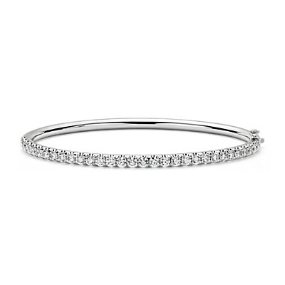 Pavé Diamond Hinged Bangle in 18k White Gold (2.48 ct. tw.)