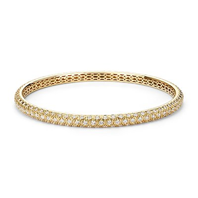 Radiance Pavé Diamond Bangle in 18k Yellow Gold (3.90 ct. tw.)
