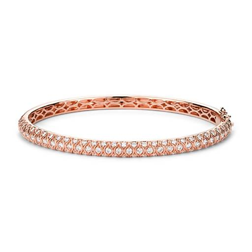 NEW Radiance Pavé Diamond Bangle Bracelet in 18k Rose Gold (2 ct. tw.)