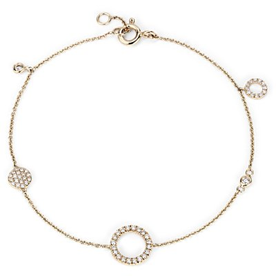 Mini Diamond Asymmetrical Diamond Circle Bracelet 14k Yellow Gold (1/4 ct. tw.)