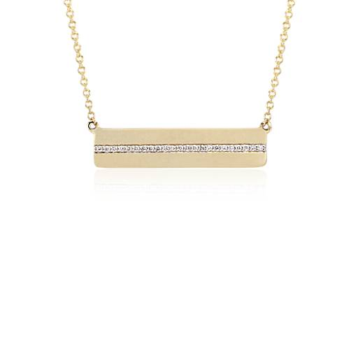 Diamond Bar Necklace in 14k Yellow Gold (1/10 ct. tw.)