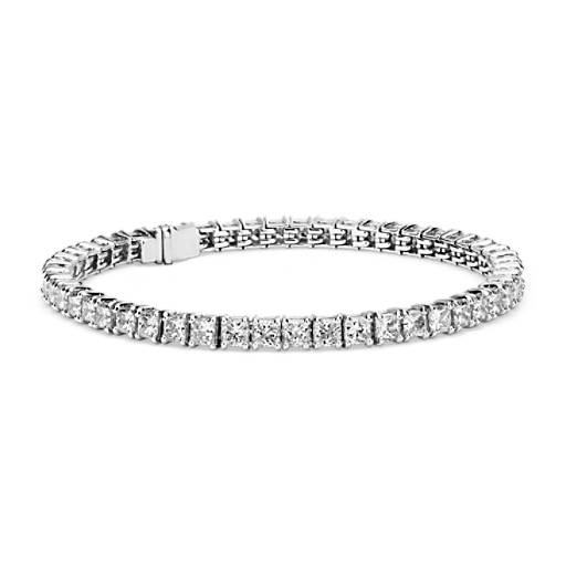 NEW Blue Nile Signature Ideal Princess Cut Diamond Tennis Bracelet in Platinum (10 ct. tw.)