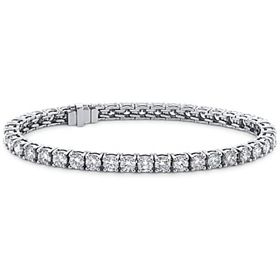Blue Nile Signature Ideal Cut Diamond Tennis Bracelet in Platinum (10 ct. tw.)