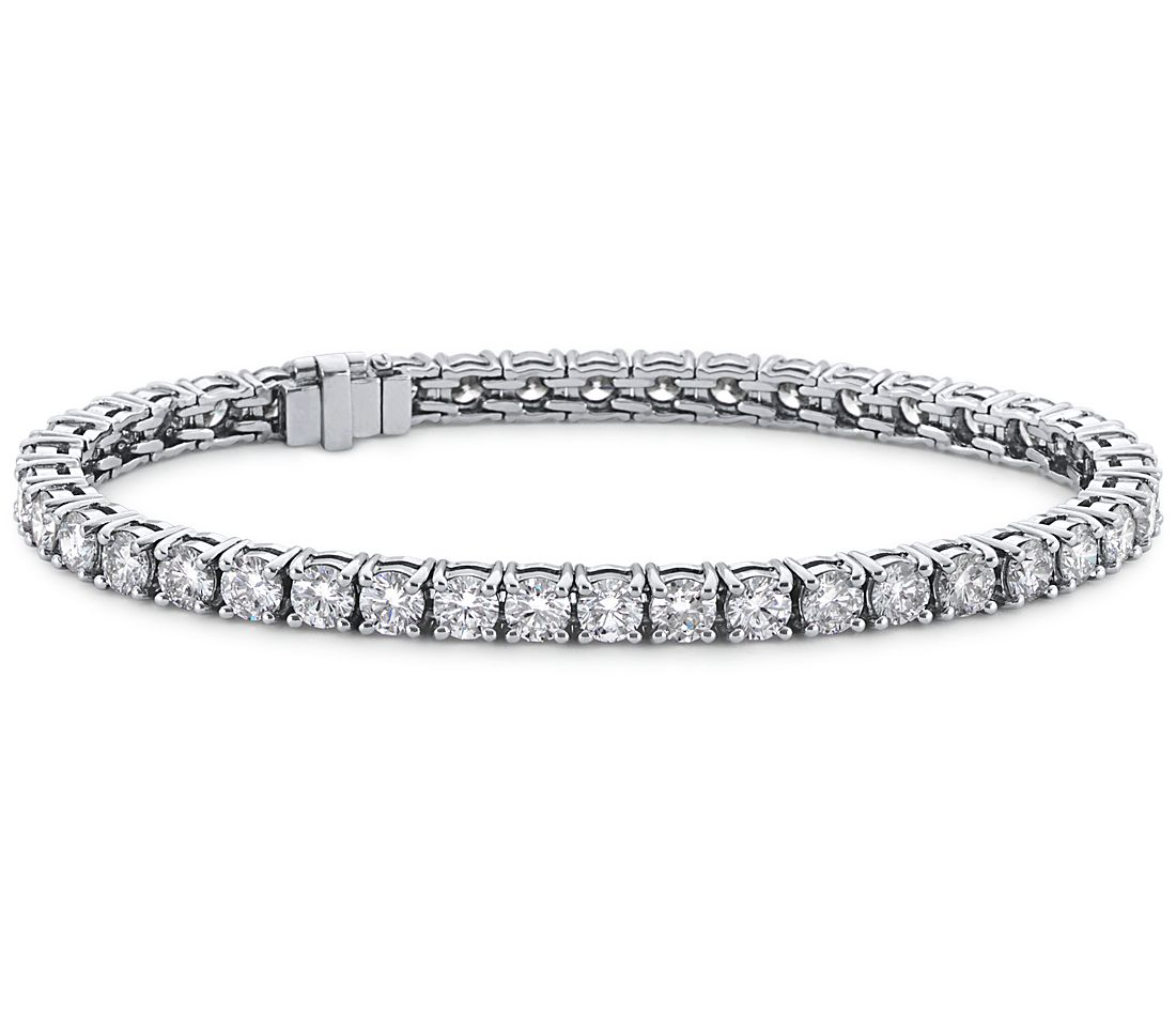 Blue Nile Signature Ideal Cut Diamond Tennis Bracelet In