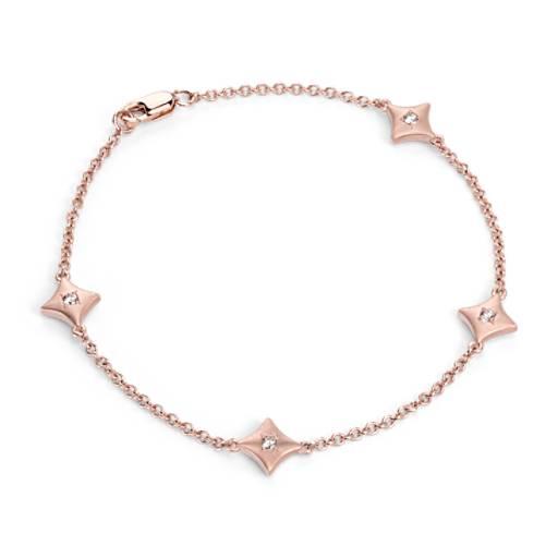 Diamond Bracelet in Satin 14k Rose Gold (1/4 ct. tw.)