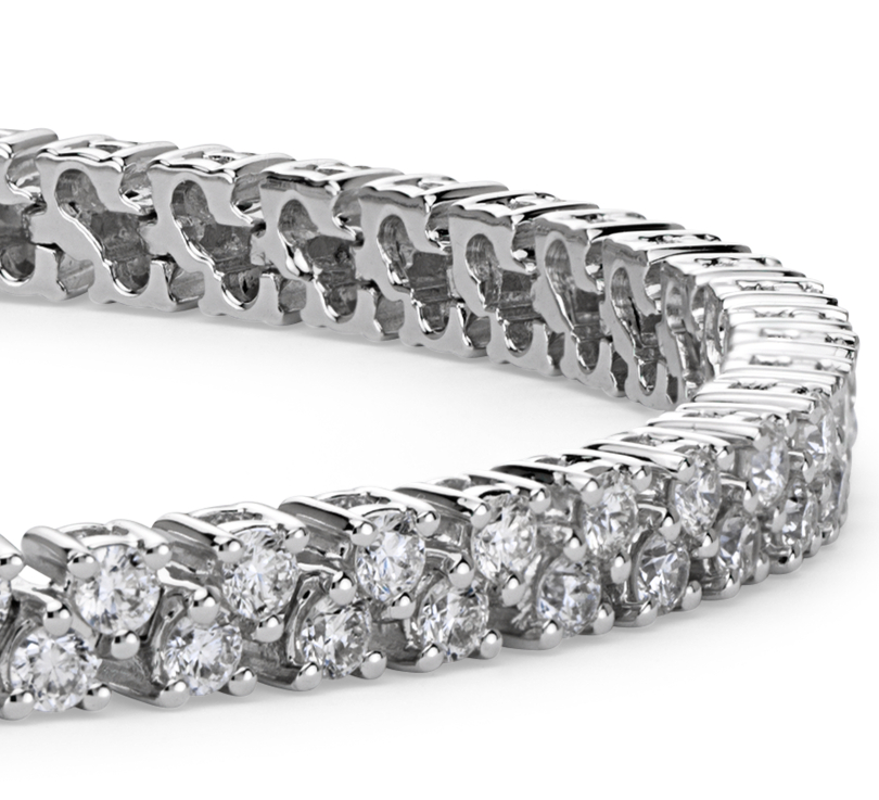 Bracelet diamants en or blanc 18 carats (3,25 carats, poids total)