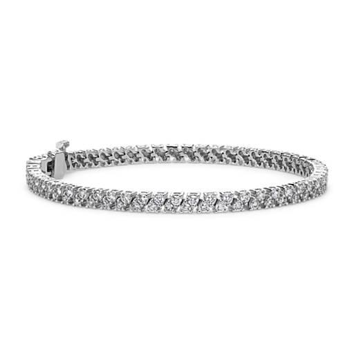 Brazalete de diamantes en oro blanco de 18k (3,25 qt. total)