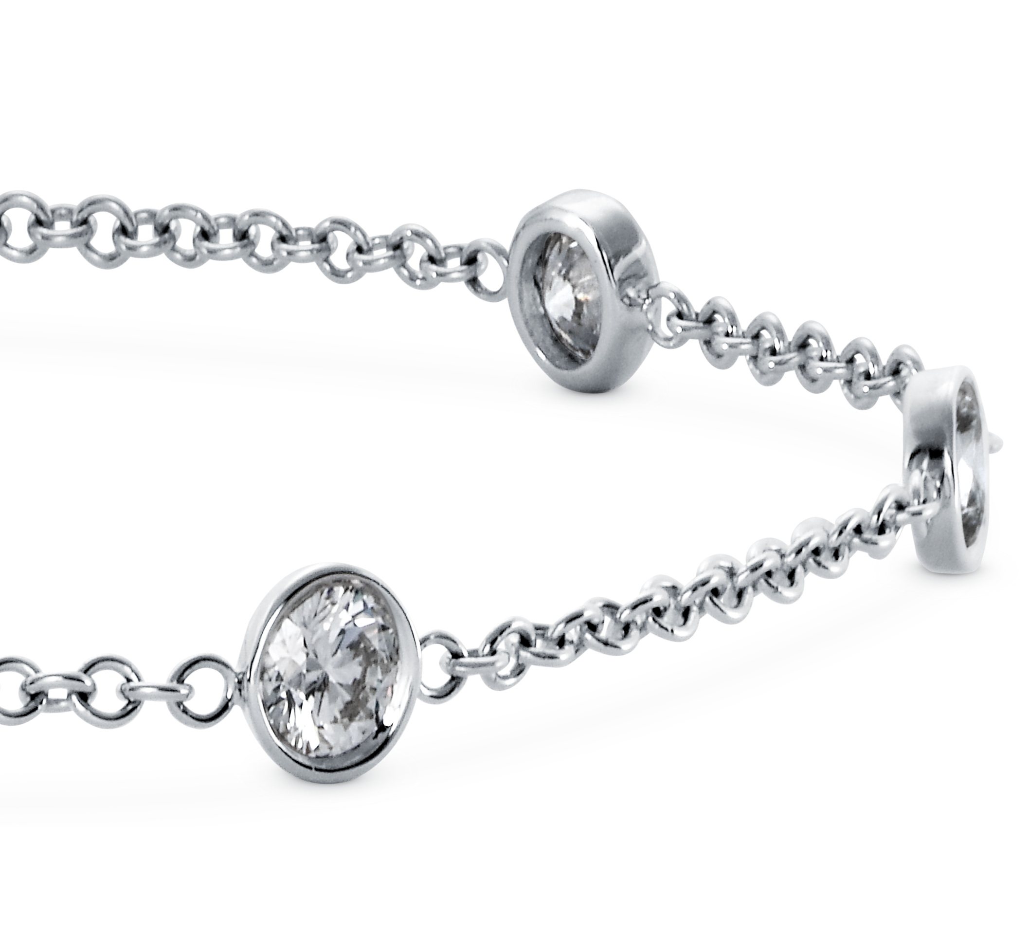 Diamond Bezel Bracelet in 18k White Gold (1 1/5 ct. tw.)