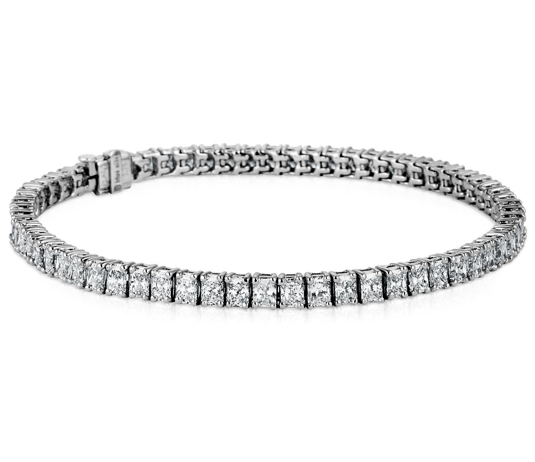 Radiant-Cut Diamond Bracelet in Platinum (7 ct. tw.)