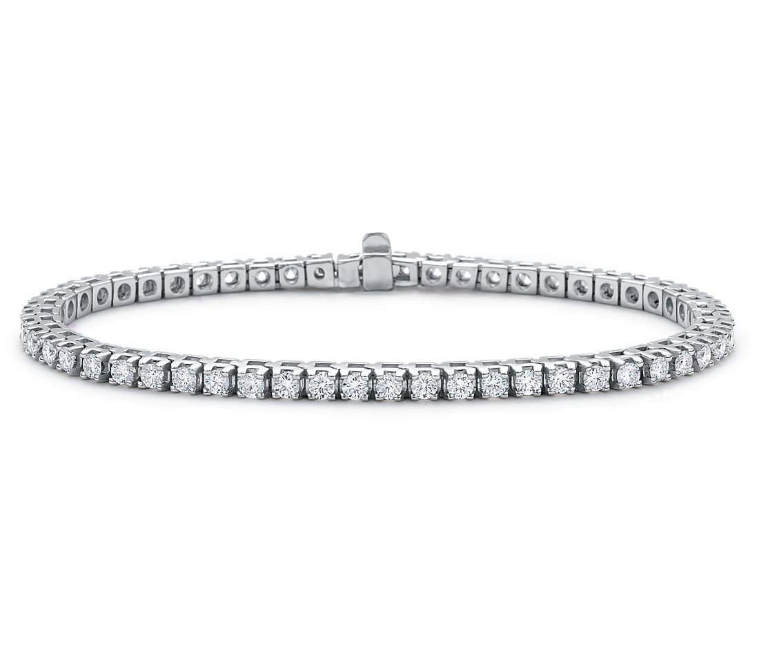 Diamond Eternity Bracelet in 18k White Gold (3 ct. tw.)