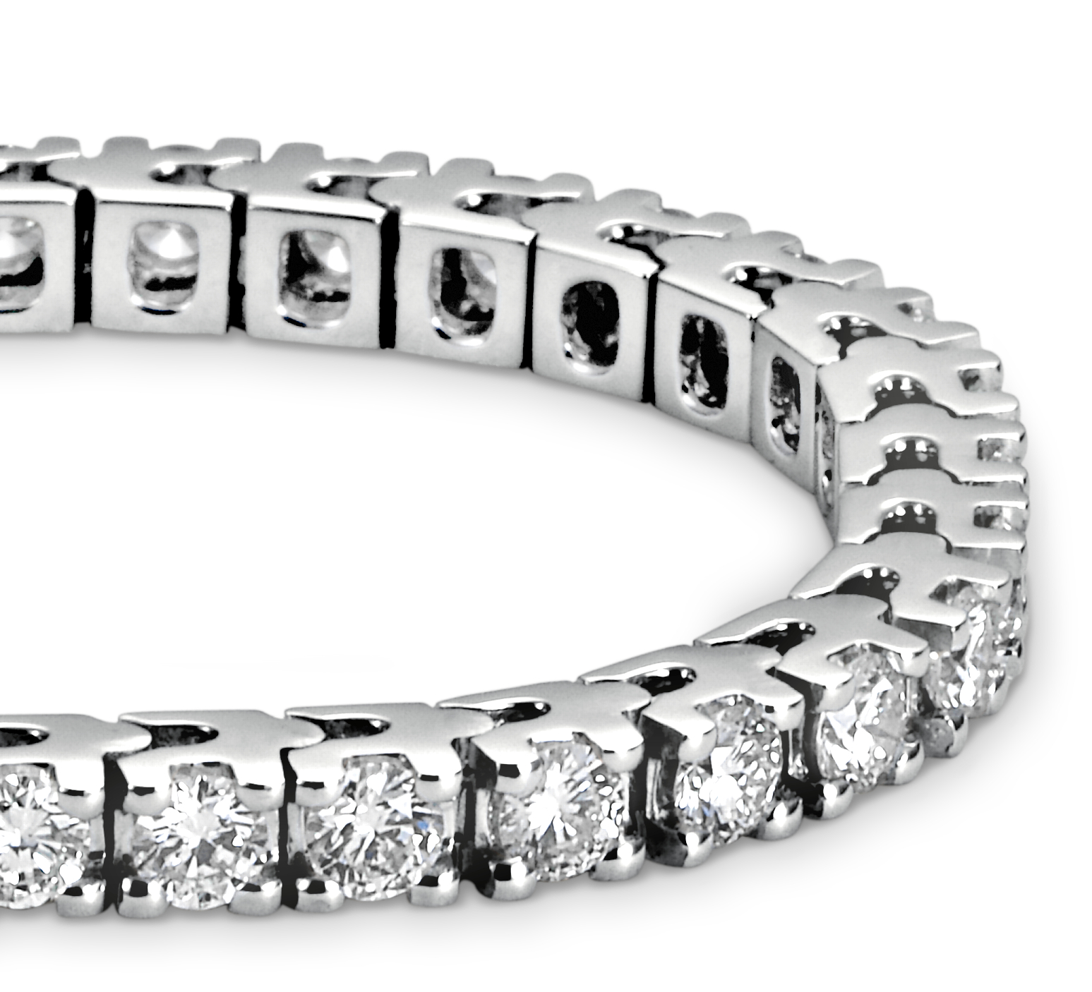 Diamond Eternity Bracelet in 18k White Gold (4 ct. tw.)