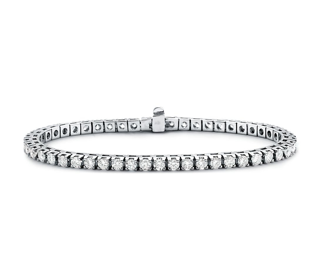 Diamond Eternity Bracelet in 18k White Gold (5 ct. tw.)