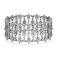 Bracelet diamants en Or blanc 18 ct (18.23 carats, poids total)