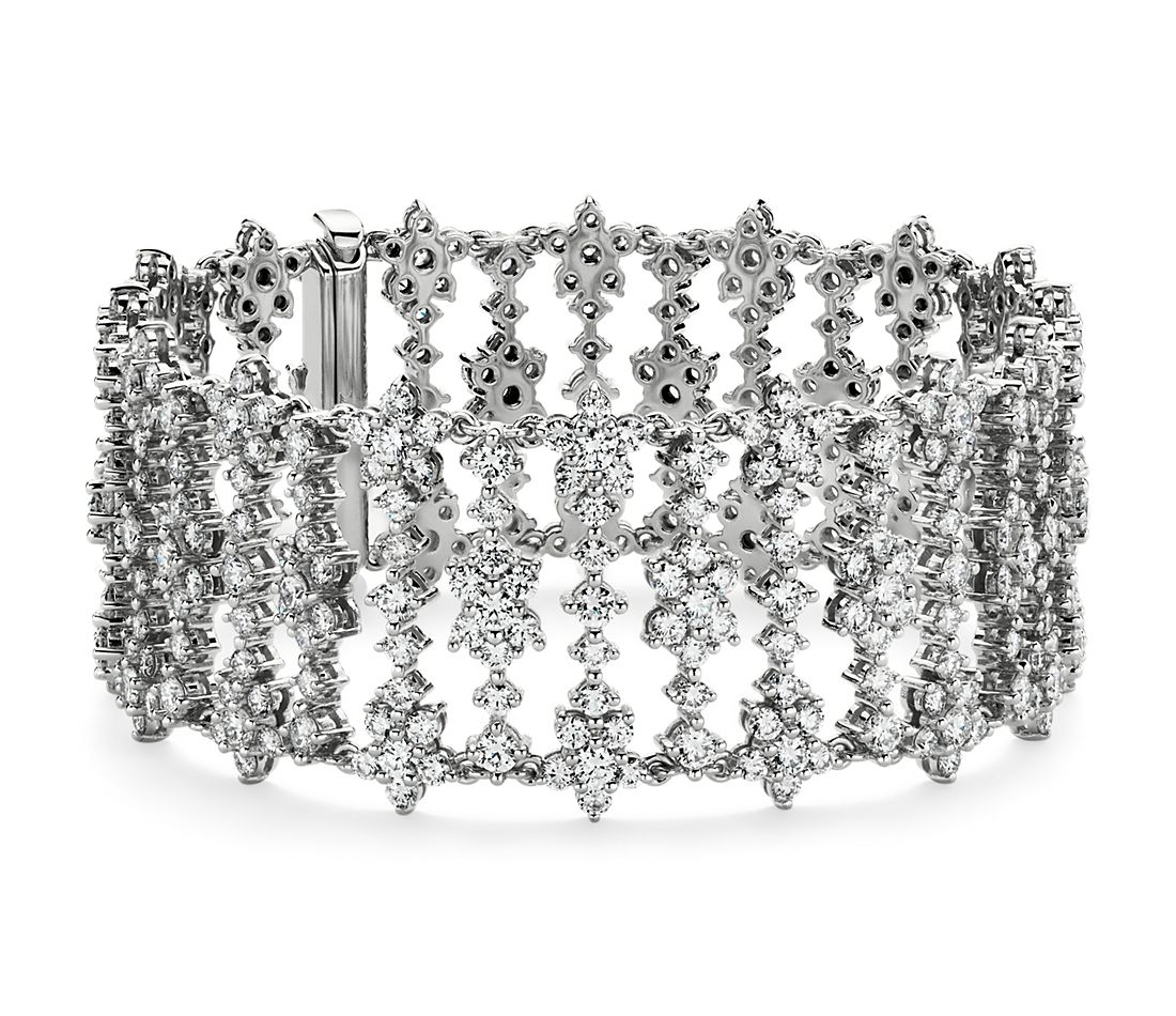 Fleur Diamond Bracelet in 18k White Gold (18.23 ct. tw.)