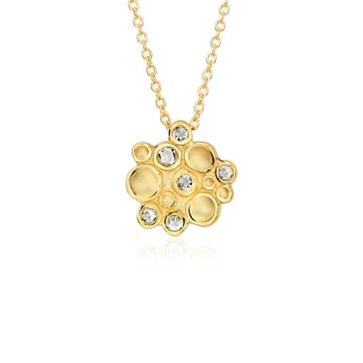 Diamond Bubble Cluster Pendant in 18k Yellow Gold