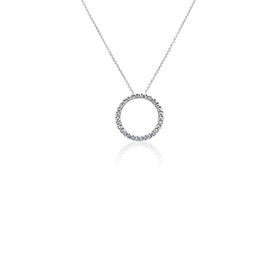 NEW Diamond Circle Necklace in 14k White Gold (3/4 ct. tw.)