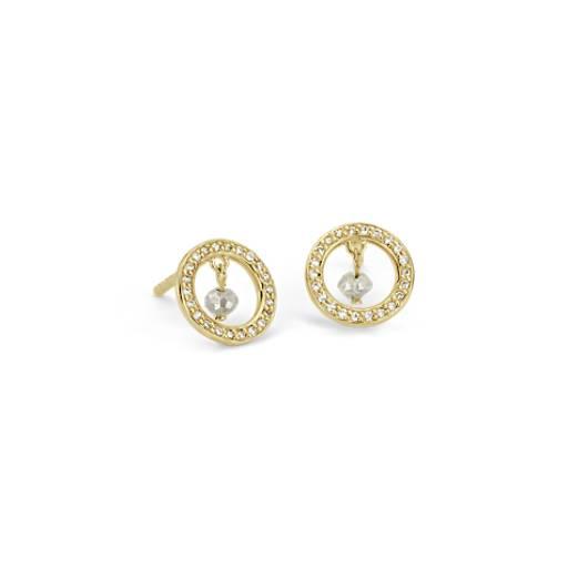 Rough Diamond Earring in 14k Yellow Gold