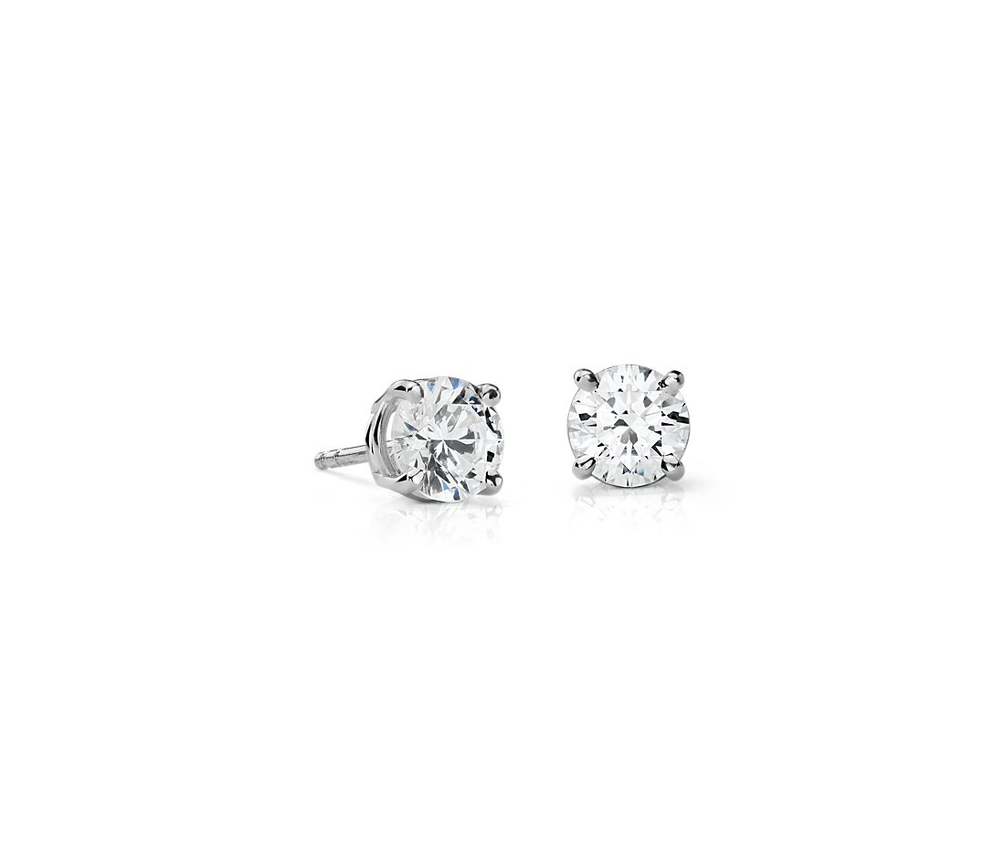 Premier Diamond Earrings in Platinum (2 ct. tw.)