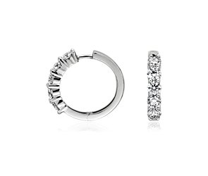 Blue Nile Signature Diamond Earrings in Platinum (1 1/2 ct. tw.)