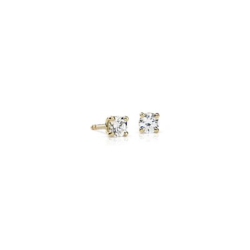 18k Gold Four-Claw Diamond Stud Earrings (1/3 ct. tw.)