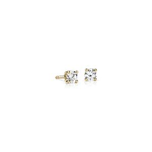 18k Gold Four-Claw Diamond Stud Earrings (1/3 ct. tw.)