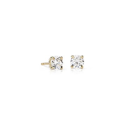 18k Gold Four-Claw Diamond Stud Earrings (1 ct. tw.)